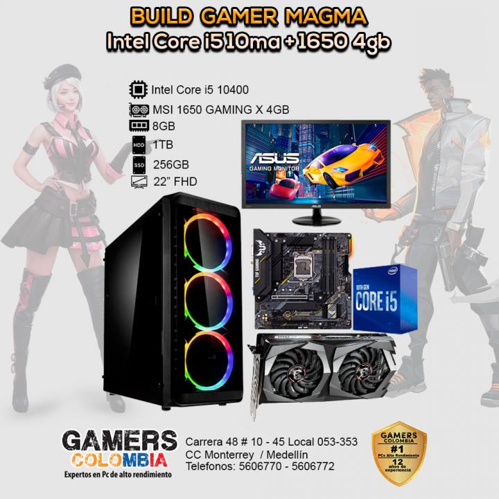 PC Escritorio Core i5-10400, GPU 1650